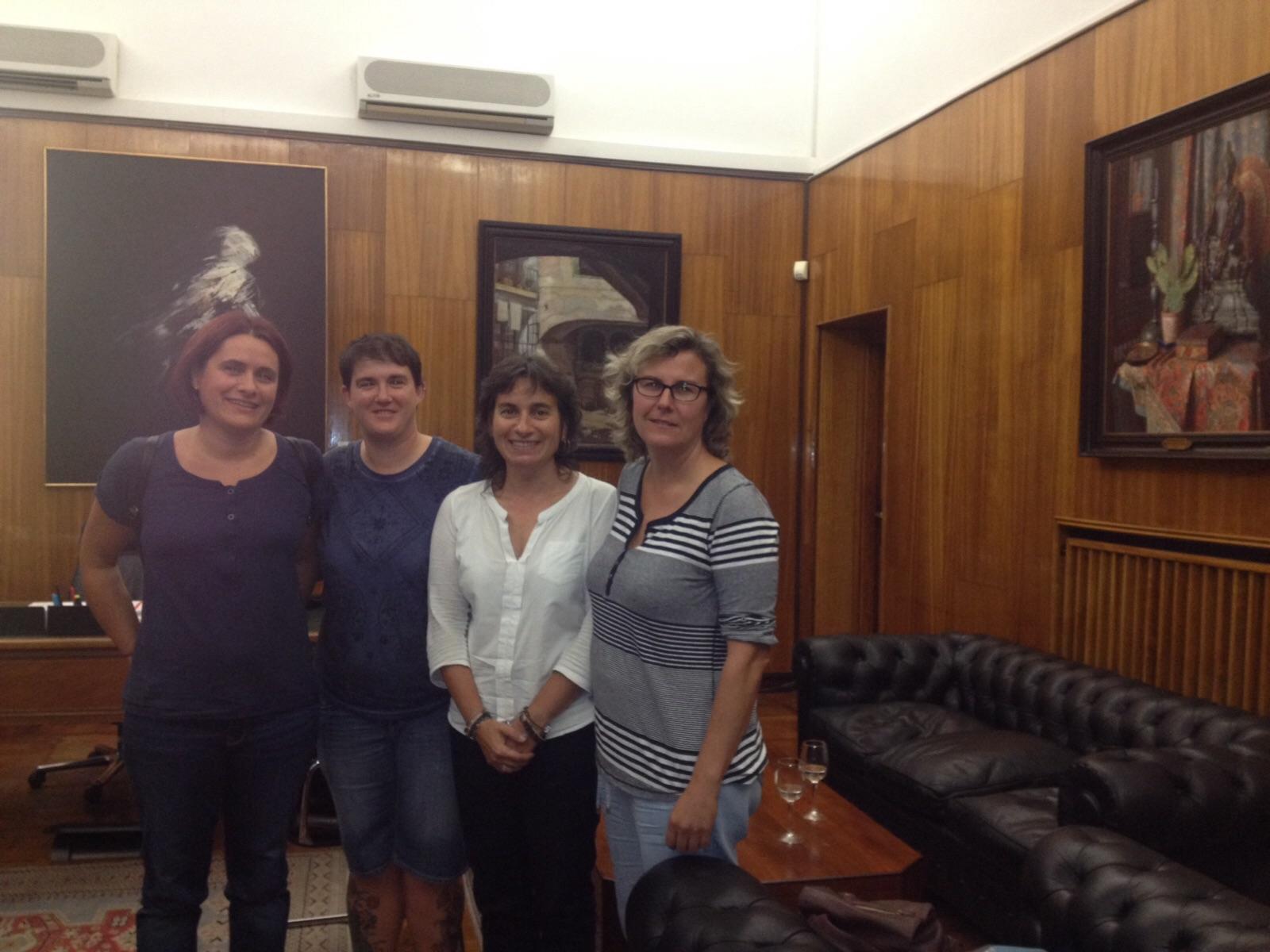 SOFA en el Ayuntamiento con Luisa Broto