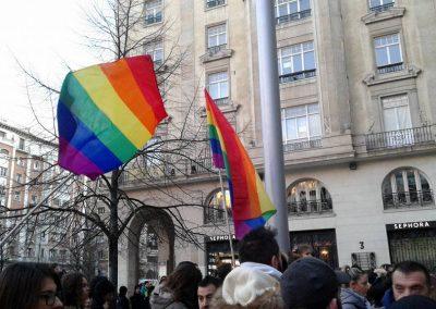 SOFA en la concentración contra la transfobia 5